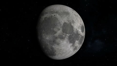 Photorerealistic Moon 3D