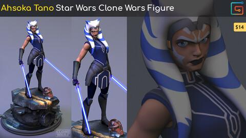 Ahsoka Tano - Star Wars Clone Wars Fan Art Figure