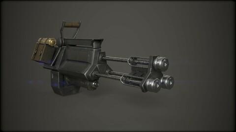 Low Poly Machine Gun