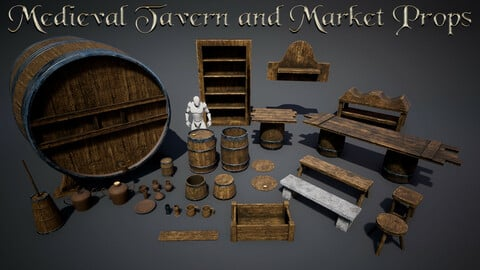 Medieval Tavern and Market Assets