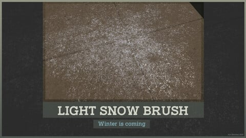 Texturing Essentials for Free - Light Snow Brush (Substance Painter)