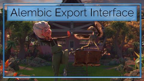 Alembic Export Interface - Autodesk Maya