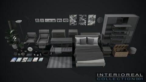 Furniture & Decor Asset Pack: Interioreal Collection 001 - Aquamarine