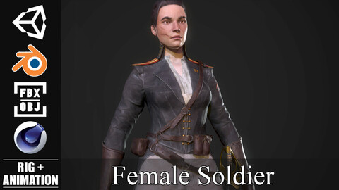 Female Soldier - Game Ready