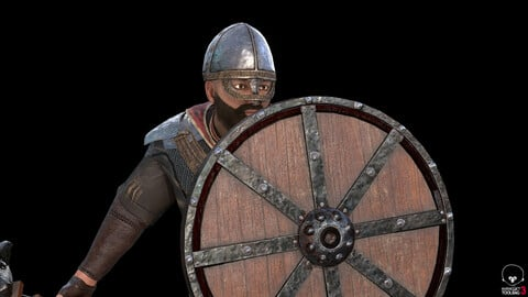 Medieval Knight low poly game model
