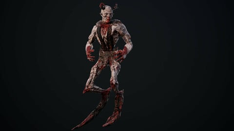 Monster Mutant 2 low poly game model