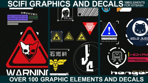 Sci-fi Graphics and Decals - Vol.3