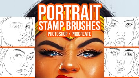 Easy Portrait Stamp Brushes