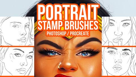 Easy Portrait Stamp Brushes