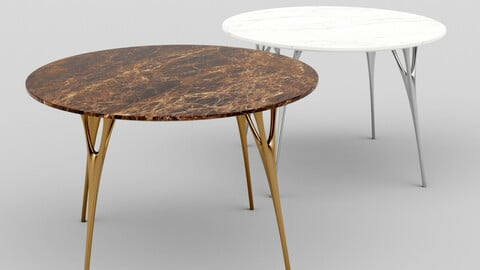 Marble Table with Casting Metal Legs