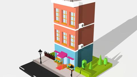 Isometric Building 1 - Print
