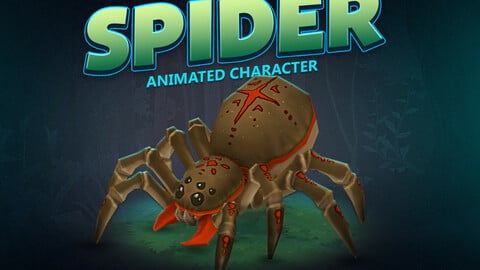 Spider animated character