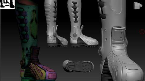 Stylized  futuristic boot