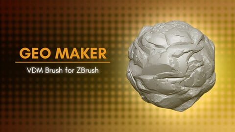 [VDM Brush] Create Rocks and Stones with The Geo Maker Brush for ZBrush 2021