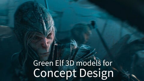Green Elf 3D models for Concept Design