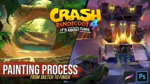 Crash Bandicoot 4 - Free Painting Process