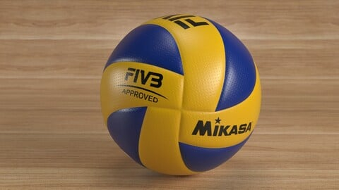 Volleyball FIVB 300 PBR 3D model