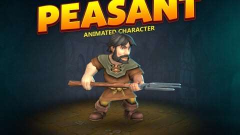 Peasant animated character