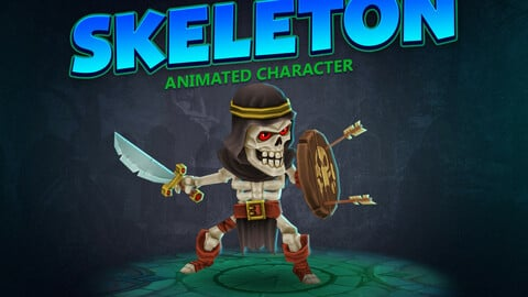 Skeleton animated character