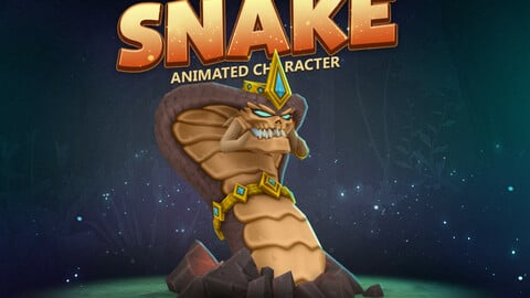 Snake animated character