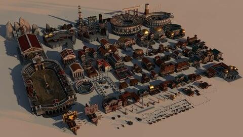 Mega Roma Greek Ancient City Pack
