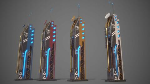 Futuristic Sci-Fi Building 13
