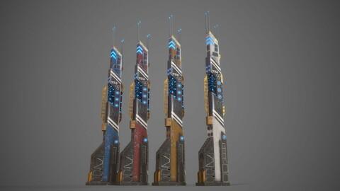 Futuristic Sci-Fi Building 14