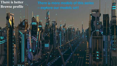 Futuristic Sci-Fi Building 15