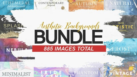 885 Aesthetic Backgrounds BUNDLE