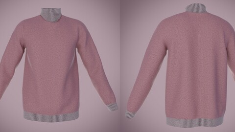 3D male sweater- Turtleneck outfit