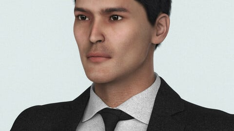 Handsome Suit Man 3D Character