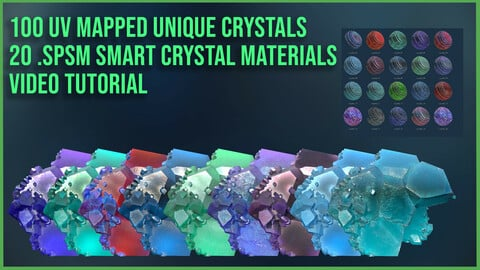 20 Crystal Mineral Smart Materials & 100 Unique Crystals + Video Tutorial