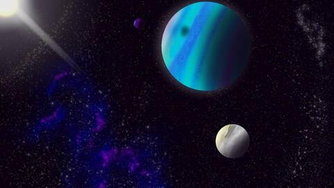 Small version of my alien solar system