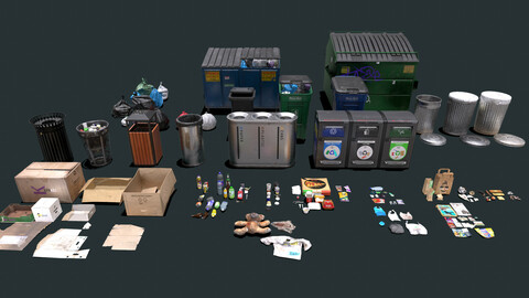 Urban Trash And Waste Management Pack