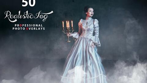 50 Halloween Realistic Fog Photo Overlays