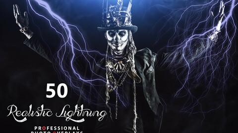 50 Halloween Realistic Lightning Overlays