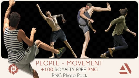 PNG Photo Pack: People - Movement
