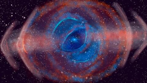 Eye nebula around star that went nova