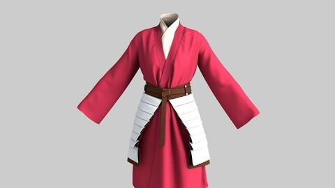 Women Disney Mulan Costume with Belt