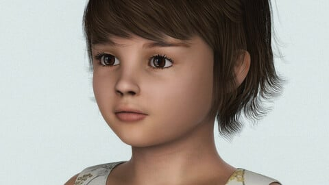 Beautiful Child Girl 3D Character