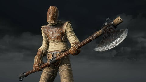 Character with Axe and Shield