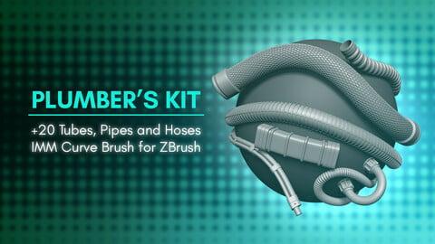 [IMM Brush] Tubes, Pipes and Hoses Brush for Zbrush 2021