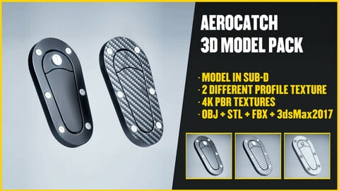 AeroCatch / Bonnet Pins 3D Model