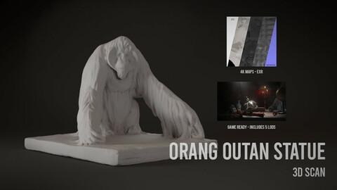 Orang-Utan Statue - 3D Scan with Textures & LODS