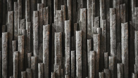 Procedural Iceland Basalt Columns