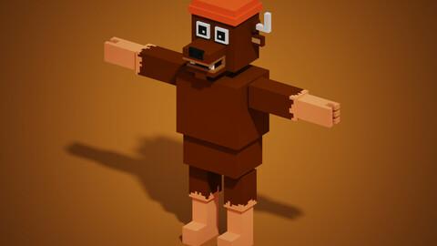 Elk Lumberjack Human Body minecraft Style
