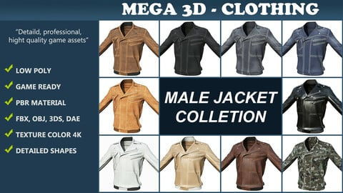 Low poly Male Jacket Collection 201204