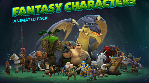 Fantasy animated characters pack
