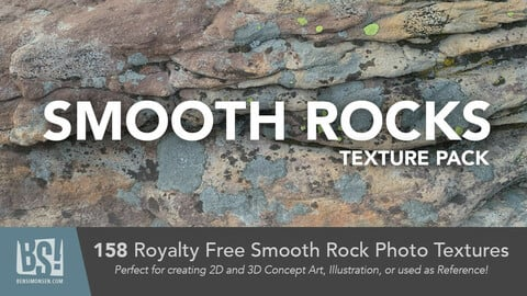 158 Smooth Rock Photo Textures - Royalty Free