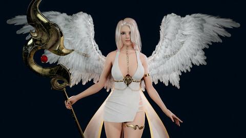 Angel Girl - Game Ready